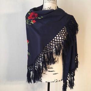 5/$25 Embroidered fringe wrap